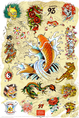 Ed Hardy - Japanese Tattoo Chart