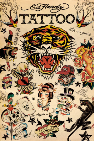 "Ed Hardy - Tattoo 24"" x 36, $15.95"