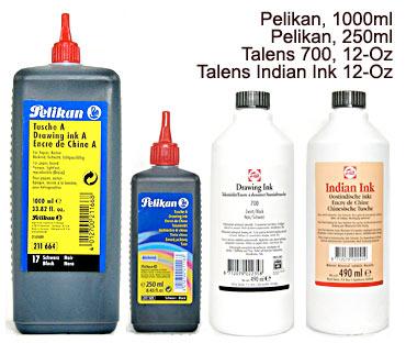 5K901 Talens #700, 5K931 Pelikan A, Talens Indian Ink
